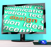 Design Word On Computer Shows Graphic Artwork Royalty Free Stock Image
