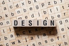 Design word concept royalty free stock image