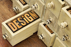 Design word - concept in wood type Stock Photos