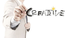 design word CREATIVE as concept Stock Images
