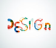Design word font concept Stock Image