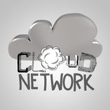 Design word hand drawn CLOUD NETWORK Royalty Free Stock Photo