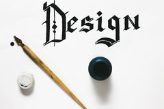 Design word and inks Stock Photo