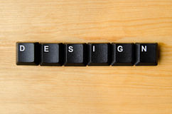 Design word. With keyboard buttons royalty free stock images