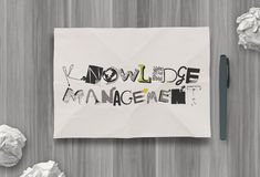 Design word KNOWLEDGE MANAGEMENT Stock Image