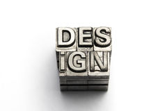 Design word, letterpress block letter Stock Images
