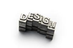 Design word, letterpress block letter Royalty Free Stock Photo