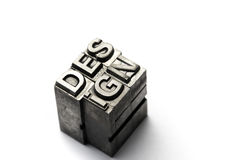Design word, letterpress block letter Royalty Free Stock Image