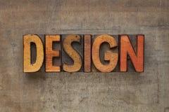 Design word in letterpress type Stock Photo