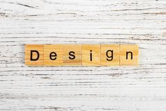 DESIGN word made with wooden blocks concept.  royalty free stock photography