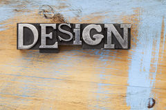 Design word in metal type Royalty Free Stock Photography