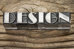 Design word in metal type Stock Photo