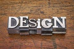 Design word in metal type Royalty Free Stock Photo