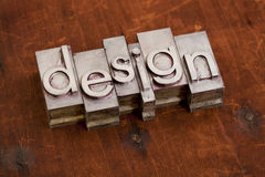 Design word in metal and wood Stock Images