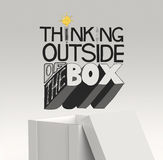 Design word THINKING OUTSIDE OF THE BOX Royalty Free Stock Photo