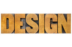 Design word typography in wood type Royalty Free Stock Photography