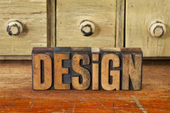 Design word in vintage wood type Royalty Free Stock Image