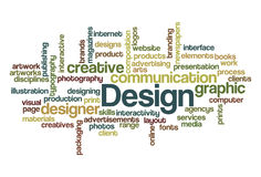 Design Wordcloud. A Word Cloud about Design Stock Images