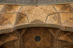 Design work over door, isfahan, iran Stock Photo