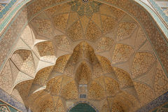 Design work over door, isfahan, iran Royalty Free Stock Images