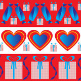 Design wrapping paper for Valentine's day Royalty Free Stock Image