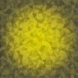 Design yellow triangle crack background Stock Image