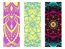 Design yoga mat. Hand drawn elements royalty free illustration