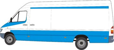 Design your delivery van !!. Change the color, put your company trademark Royalty Free Stock Image