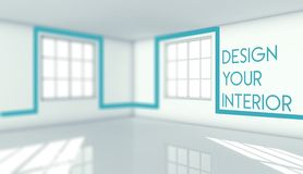 Design your interior in empty room, concept Royalty Free Stock Image