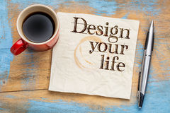 Design your life on napkin Stock Photography