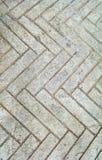 Design zigzag walkway. Concrete wall Royalty Free Stock Image