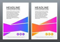 Designabdeckung Schablone mit hellen Formen auf weißem Hintergrund Kreatives Design in a4 Violetter und rosa Zusammensetzungssatz Lizenzfreies Stockfoto