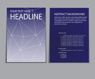 Designabdeckungspapierbericht Abstrakte geometrische Vektorschablone Lizenzfreies Stockbild