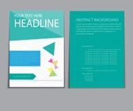 Designabdeckungspapierbericht Abstrakte geometrische Vektorschablone Lizenzfreies Stockfoto