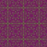 Designabstraktionsgrün-Blumenmuster Lizenzfreies Stockfoto