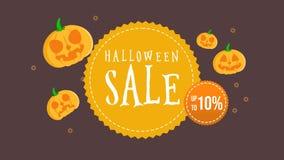 DesignAnimation fantasmagórico de Halloween de la animación de la colección de la venta de Halloween hasta 10 stock de ilustración