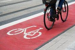 Designated bike lane or cycle highway Royalty Free Stock Image