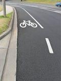 Designated bike lane Royalty Free Stock Photography
