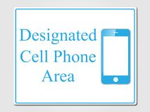 Designated cell phone area sign Stock Image