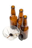 Designated Driver Concept. A designated driver put his car keys in a glass bowl Royalty Free Stock Image