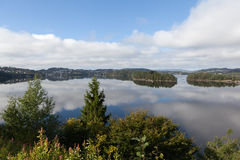 Designated Grieg. On the shore of the lake is located Nurdos manor Troldhaugen. Norway. Stock Photo