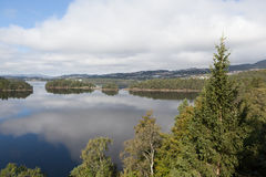 Designated Grieg. On the shore of the lake is located Nurdos manor Troldhaugen. Norway. Royalty Free Stock Images