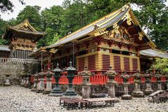 One of the Sanjiko sacred storehouses, Toshogu shrine, tochigi prefecture, Japan stock image
