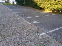 Designated parking spaces Stock Photos