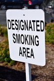 Designated smoking area Stock Image