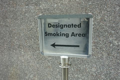 Designated Smoking Area Stock Photos