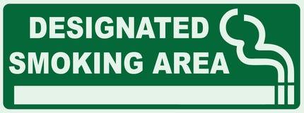 Designated Smoking Area. Smoking area sign. Green Sign - Smoker Zone Signage Stock Photography