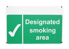 Designated smoking area sign Royalty Free Stock Image