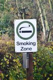 Designated smoking sign Stock Photography