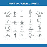Designation of components in the wiring diagram Stock Images